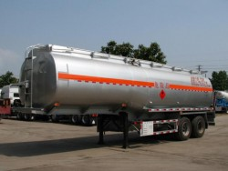 30 CBM 2 axles ISO petrol tank trailer sales in Tanzania