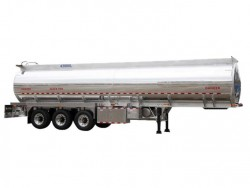 3 axles mirror aluminum alloy tanker trailer