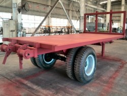 4 mm top checkered plate one axle flat bed trailer